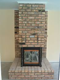 custom old chicago brick fireplace front view mount dora fl