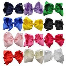large hair bows qtgirl 12pcs 20cm large hair bows grosgrain ribbon boutique hair