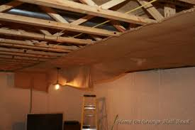 home design beadboard ceiling in basement contemporary expansive