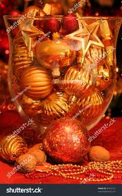ornaments glass vase table decoration stock photo