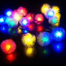 Solar Powered String Lights Patio by Fashionlite Solar Lights 50 Leds Chuzzle Ball Solar Powered String