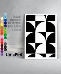 Design Minimalist Pattern Print Black White Wall Art Minimalist Print