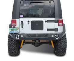 jeep rear bumper with tire carrier jk rear bumper vanguard full width jeep wrangler 07 17