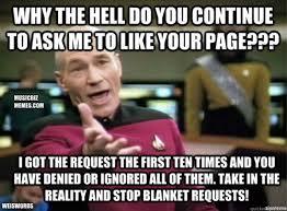 Facebook Likes Meme - music meme weiswords meme picard facebook likes music biz