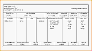 Excel Paystub Template 8 Pay Stub Template Loan Application Form