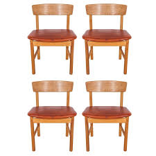 set of 4 borge mogensen oak and leather curved back sound series set of 4 borge mogensen oak and leather curved back sound series dining chairs at 1stdibs