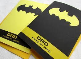 batman father u0027s day card dad you u0027re my hero handmade by