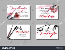 Fashion Photography Business Cards Makeup Artist Business Card Vector Template Stock Vector 420914176