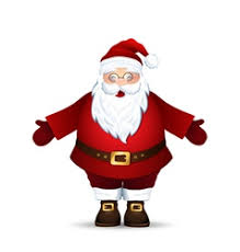 merry santa claus juggles royalty free vector image