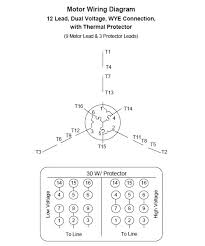 12 lead 3 phase motor wiring diagram 9 wire motor diagram 12