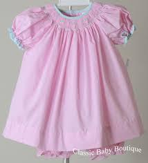 nwt petit ami pink gingham smocked bishop dress 3 6 9 months
