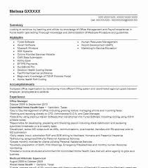 Health Care Resume Sample by Best Office Manager Resume Example Livecareer