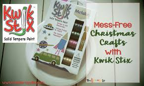 mess free christmas crafts with kwik stix giveaway this