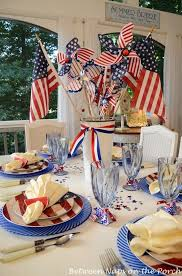 Fourth Of July Table Decoration Ideas Some 4th Of July Table Settings Table Settings Holidays And