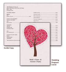 wedding program cover free printable wedding program templates you ll