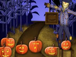 stich halloween background scarecrows and pumpkins wallpaper wallpapersafari