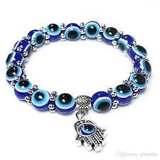 fashion evil eye bracelet images Fashion new turkey evil eye bracelet 8mm blue beads snow spacer jpg