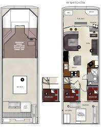 Floor Planning by Floor Plan 48 Ft Navigator Houseboat Lake Powell Resorts U0026 Marinas