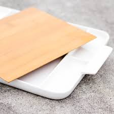 cutting board plate fuubutsushi ceramics plate with detachable cutting board kiyolo
