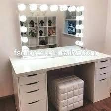 vanity set with lights hollywood vanity desk vanity black white color vanity mirror with