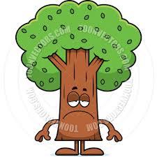 cartoon tree sad by cory thoman toon vectors eps 38880