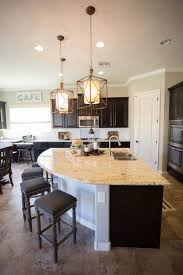 pictures of islands in kitchens the unique curved kitchen island provides casual seating in