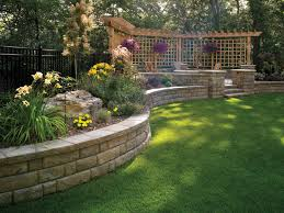 Landscaping Ideas For Downward Sloping Backyard With Pergola - Retaining wall designs ideas