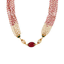 ruby beads necklace images 22k gold pearl ruby beads mala raj jewels jpg