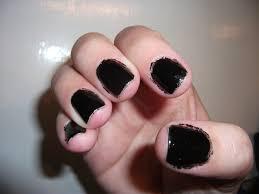 nail fail finger paints black expressionism polish me please
