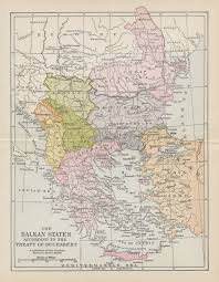 Map Of Romania First And Second Balkan Wars