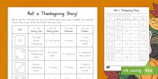 a thanksgiving story writing prompts