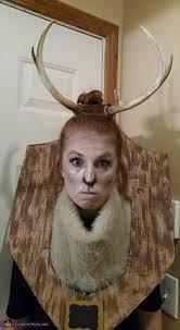 Deer Head Halloween Costume Deer Hunter Taxidermy Carnival Costume Carnivale
