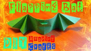 halloween bats crafts diy how to fold origami flying bat easy halloween bat craft