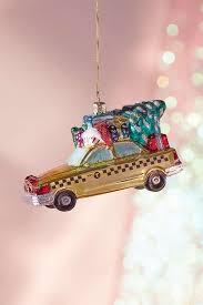new york city cab ornament tree decorating