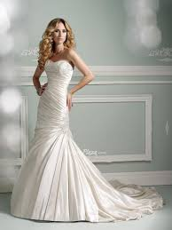 strapless mermaid wedding dress from satin sang maestro