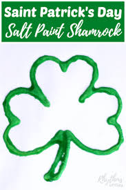 saint patricks day salt paint shamrock art project rhythms of play