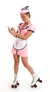 Soda Halloween Costumes Soda Pop Shop Waitress Diner Car Hop Womens 50 U0027s
