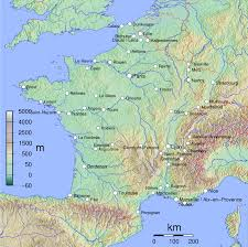 Political Map Of France by Physical Map Of France France Physical Map Vidiani Com Maps