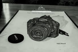 3d pencil sketch canon 550d by nikhilannur on deviantart