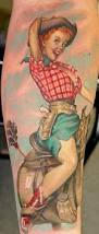 steve morris tattoos realistic cowgirl
