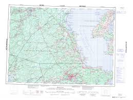 Moncton Canada Map by Printable Topographic Map Of Moncton 021i Nb