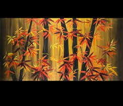 bamboo art paintings bamboo leaves painting by ivy sharma