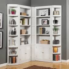 White Bookcases With Glass Doors by Furniture Rustic White Corner Bookshelf For Inspiring Antique