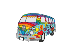 volkswagen hippie van clipart painted vw hippy van design chico graphic design