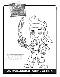 100 ideas disney coloring pages jake neverland pirates
