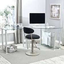 Glass L Shaped Desk Office Depot Glass L Shaped Office Desk Netztor Me