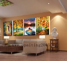 Paintings For Living Room by Hand Painted Picture On Canvas Modern Landscape Wall Art Painting