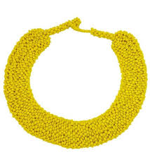 beaded collar necklace jewelry images Beaded collar necklace yellow jpg