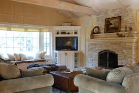 brilliant living room furniture arrangement with corner fireplace