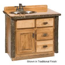 fireside rustic hickory log vanity 42 inch